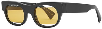 Alain Mikli X Jeremy Scott 2 Black Rectangle-frame Sunglasses