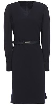 Elie Tahari Hale Belted Crepe-paneled Cady Dress