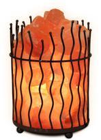 7.8 in. Himalayan Ionic Crystal Salt Pillar and Natural Amber Glow Table Lamp