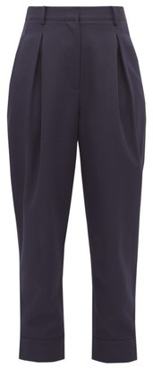 Tibi Recycled Tailored Technical-twill Trousers - Navy