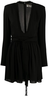 Saint Laurent plunge v-neck dress