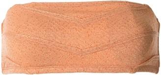 Peony Swimwear Textured Bandeau Top