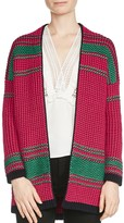 Maje Meditation Striped Cardigan