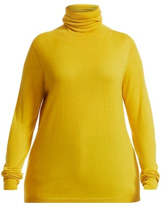 Marina Rinaldi, Plus Size Atletica Fine Stretch-Wool Rollneck Sweater