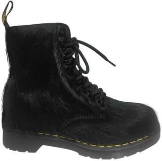 Dr. Martens Black Fur Boots