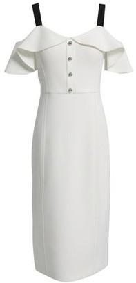 Jason Wu Cold-shoulder Ruffled Neoprene Dress