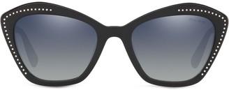 Miu Miu Rhinestone Logo Sunglasses