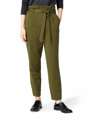 Meraki Amazon Brand Women's Jersey Paper Bag Trouser