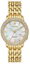Citizen Eco-Drive Classic Diamond Goldtone Stainless Steel Bracelet Watch