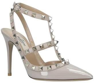 Valentino Garavani Patent Leather So Noir 100 T-Bar Heels