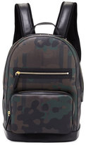 Burberry Check Camouflage Backpack, Chocolate/Camo
