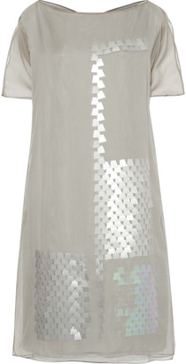 Akris Sequin-embellished Silk-chiffon Dress
