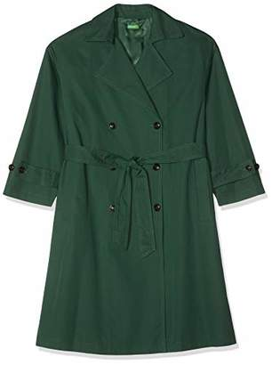 Benetton Women's Impermeabili Coat, Dark Green 169), (Size: X-Large)