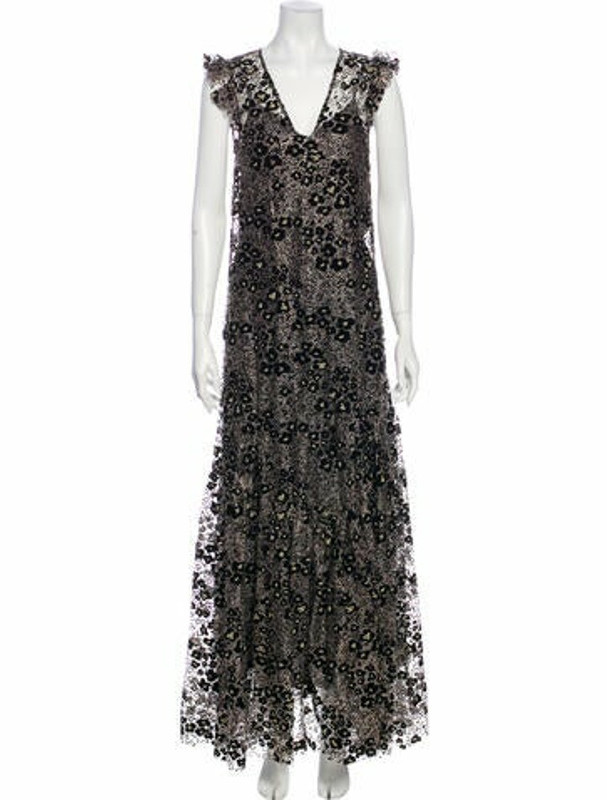 Opening Ceremony V-Neck Long Dress w/ Tags Black