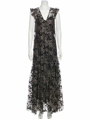 Opening Ceremony V-Neck Long Dress w/ Tags Black