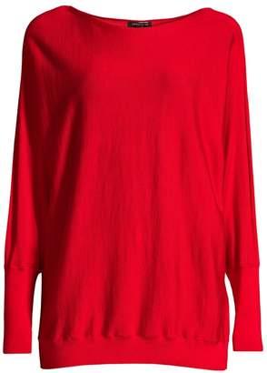 Lafayette 148 New York Boatneck Wool & Silk Dolman Sweater