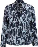 Halston Printed satin blouse