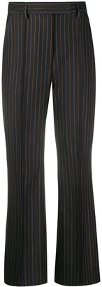 Acne Studios Pinstriped Tailored Flared Trousers