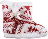 Joe Fresh Baby Girls' Fair Isle Boot Slippers, Red (Size M)