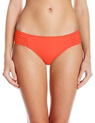 Seafolly Women's Ruched Side Retro Bikini Bottoms Bikini Bottoms,18 (Manufacturer Size: )