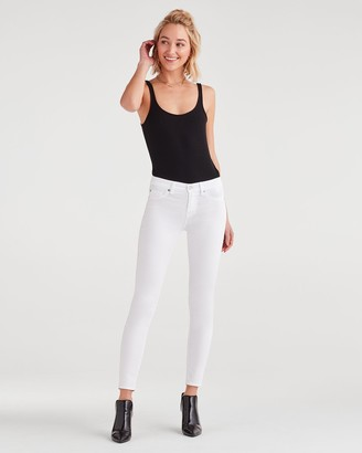 7 For All Mankind Ankle Skinny in Clean White