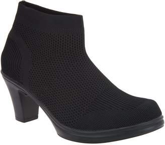 Bernie Mev. Stretch Knit Heeled Ankle Boots - Doll