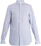 Finamore Gaeta striped linen shirt