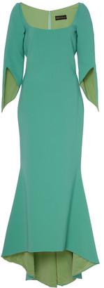 Christian Siriano Split-Sleeve Jersey Dress