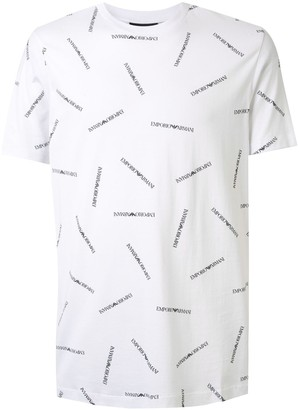 Emporio Armani multiple logo print T-shirt