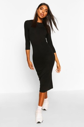 boohoo Tall Split Hem Jersey T-Shirt Dress