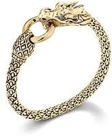 John Hardy Naga 18K Yellow Gold Dragon Bracelet With Gold Ring