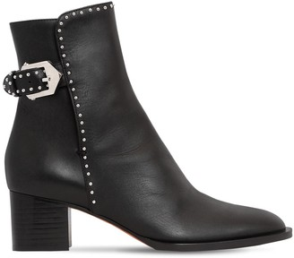 Givenchy 50MM STUDDED LEATHER ANKLE BOOTS
