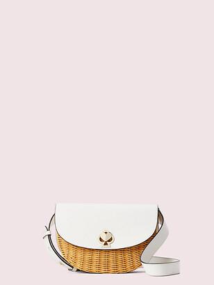 Kate Spade Nicola Wicker Twistlock Medium Sling Bag