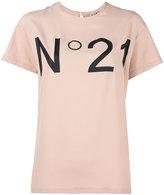 No.21 logo print T-shirt - women - Silk/Cotton/Acetate - 40