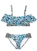 Splendid Girl's Tropic Spots Two-Piece Ruffle Swimsuit