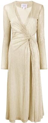 Galvan Knot Detail Plisse Dress