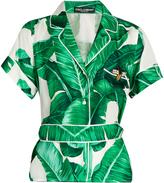 Dolce & Gabbana Banana leaf-print silk-twill shirt