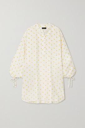 Stine Goya Neva Tie-detailed Floral-jacquard Mini Dress