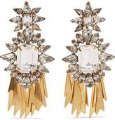 Elizabeth Cole Iliana gold-tone crystal earrings