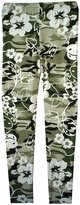 Ael Girls Floral Camouflage Leggings And Crop Top T-Shirts Kids Age Size 7