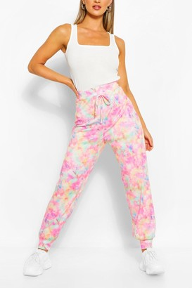 boohoo Pastel Tie Dye Relaxed Joggers