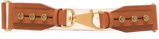 Balmain Logo-Stud Leather Clip Belt