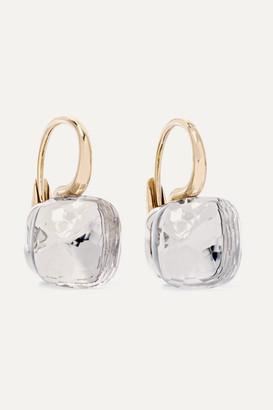Pomellato Nudo Classic 18-karat Rose And White Gold Topaz Earrings - Rose gold