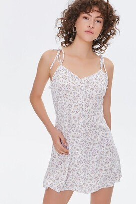 Forever 21 Floral Self-Tie Cami Dress
