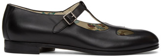 Gucci Black Mary Jane Cut-Out Loafers