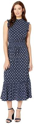 MICHAEL Michael Kors Foulard Smocked Waist Dress