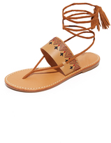 Soludos Flat Lace Up Sandals