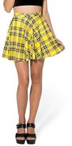 Upgraded Women's Digital Print Stretchy Flared Plaid Pleated Skater Mini Skirts by TOFLY