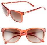 Tory Burch Women's 55Mm Gradient Sunglasses - Nantucket Red