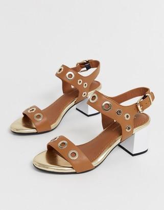 Tommy Hilfiger mid block heeled sandals
